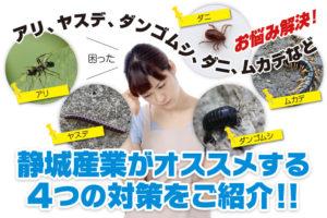 虫の駆除・防除対策