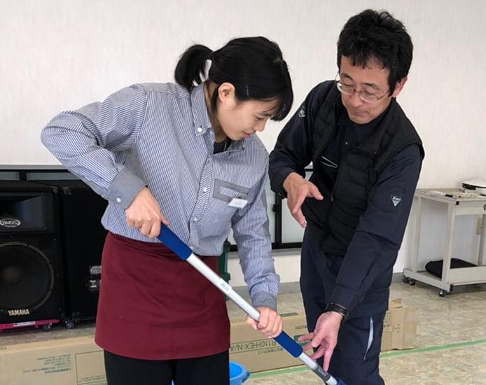 静城産業の資格取得用のトレーニング