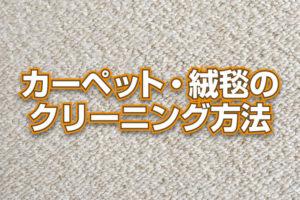 絨毯・カーペットのクリーニング