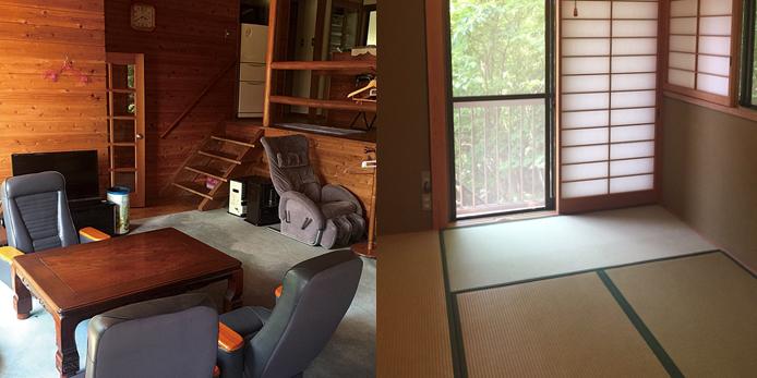 ゆったりくつろげる和室もあります
