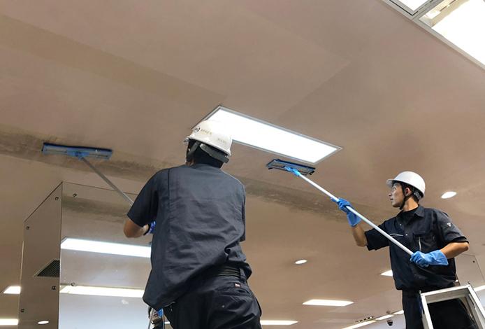 静城産業が行う天井のカビ取り作業