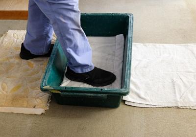 入室時の靴族の除菌