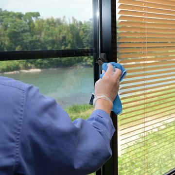窓・サッシの消毒